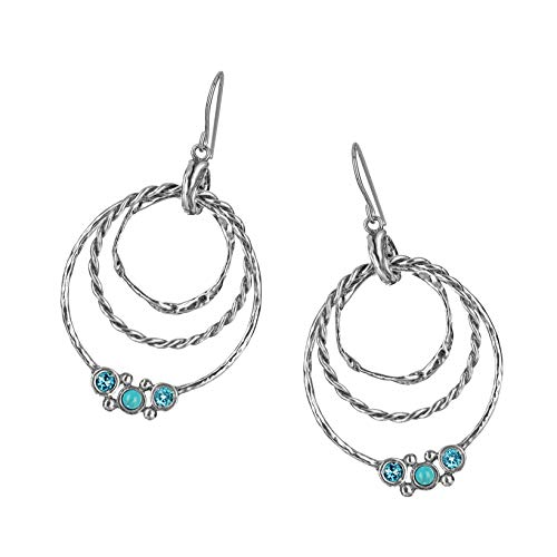Paz Creations 925 Sterling Silver Earrings - with Turquoise Gemstones