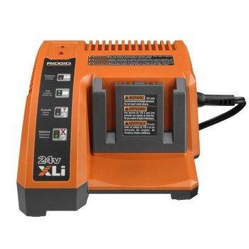 Ridgid R85009 24-Volt Single Port 1-Hour Battery Charger # 140315001