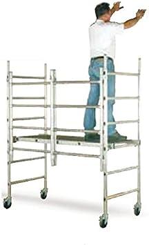 Tubesca – Andamio plegable aluminio reforzado haut. trabajo: 2,80 m – Speedy 80 26408901: Amazon.es: Bricolaje y herramientas