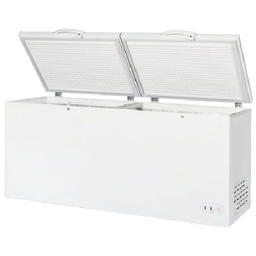 "- Maxx Cold 76"" Wide Solid Hinged Split Top Commercial Sub Zero Chest Freezer Locking Lid NSF Garage Ready Keeps Food Frozen for 2 Days In Case of Power Outage, 30 Cubic Feet 850 Liter, White"