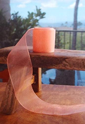 Nylon Organza Ribbon 100 Yards Spool 58 Inches Deep Rose