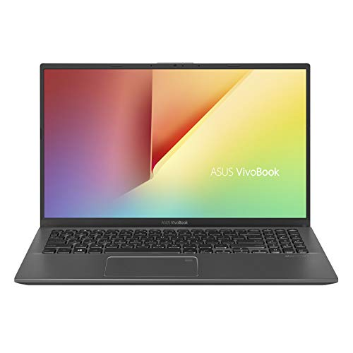 ASUS VivoBook 15 Thin and Light Laptop, 15.6' FHD, Intel Core i3-8145U CPU, 8GB RAM, 128GB SSD, Windows 10 in S Mode, F512FA-AB34, Slate Gray