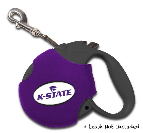 Ncaa Retractable Leash Cover (Dog Zone NCAA Retractable Leash Cover, Neoprene, Small, Purple, Kansas State University)