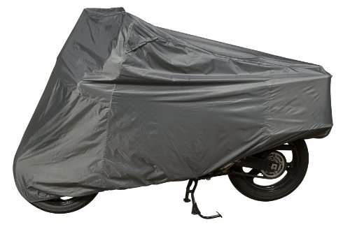(Dowco Guardian 26045-00 Ultralite Plus Water Resistant Indoor/Outdoor Motorcycle Cover: Grey, Adventure Touring)