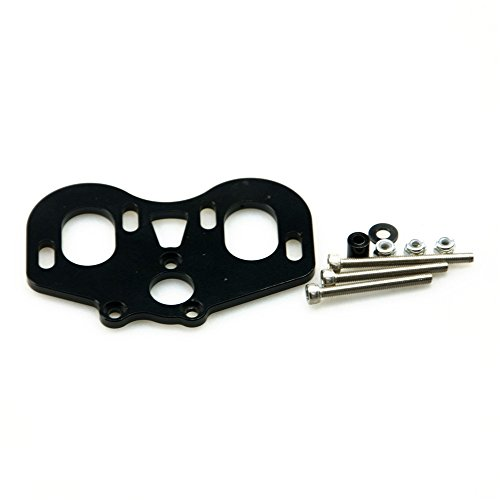 Jack-Store 1set Aluminum Dual Motor Mount for Axial SCX10 Honcho 1/10 RC Crawler Car Black