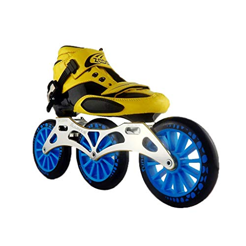 命令的学んだ亜熱帯ailj スピードスケートシューズ3 * 125MM調整可能なインラインスケート、ストレートスケートシューズ(5色) (色 : 黒, サイズ さいず : EU 42/US 9/UK 8/JP 26cm)