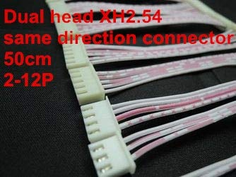Davitu 10pcs/lot 50cm XH red white ribbon cable dual head same direction XH2.54 2P 3P 4P 5P 6P 7P 8P 9P 10P 11P 12P connector - (Color: 11P)