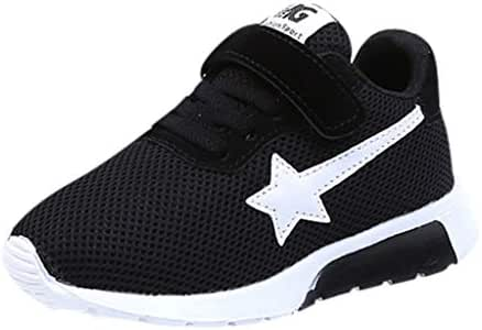 Moonker Boys Girls Kids Sport Running Shoes Casual Sneakers 3-12 Years Old Children Star Mesh Breathable Walking Shoes