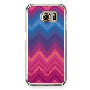 Chevron 2 Samsung Galaxy S6 Transparent Edge Case - Chevron Collection