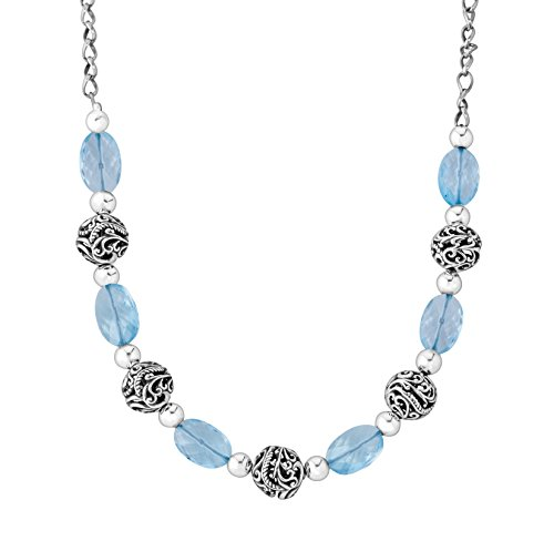 - Carolyn Pollack CP Signature Sterling Silver Blue Topaz 17 Inch Necklace