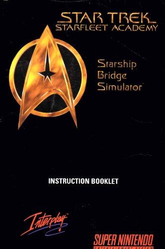 Star Trek Starfleet Academy Starship Bridge Simulator SNES Instruction Booklet (Super Nintendo Manual Only) (Super Nintendo Manual)