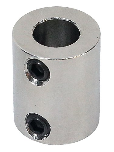 3/8 inch to 8mm Stainless Steel Set Screw Shaft Coupler ServoCity 625204