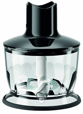 pl/ástico Negro 0.5 L Braun MQ 30 Vaso de recambio para licuadora base antideslizante