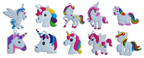 (Seventopia Unicorn Charms for Crafts Keychain Jewelry Making 20 CT Unicorn Party)