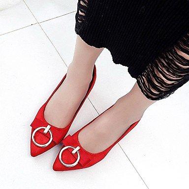 LvYuan-ggx Damen High Heels Sommer Samt Sommer Heels Herbst Schleife Schnalle Blockabsatz Schwarz Rot Grün Khaki 2,5 - 4,5 cm khaki f5c03c
