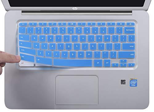 Keyboard Cover for HP 2018 Premium High Performance 14 inch Chromebook | HP Chromebook 14-ak Series | HP Chromebook 14-ca Series | HP Chromebook 14 G2 G3 G4 Series, Blue