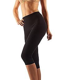 Farmacell 522 Women's Anti-Cellulite micromassage Capri Leggings with Silver Fiber