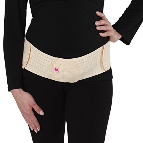 Cintura Nero Rosa Regolabile Donna per Band Velcro Beige Ginnastica Beige Addominale Herzmutter Belly per Yoga Cintura Gravidanza 3200 Sport con Supporto Gravidanza Sxgqw