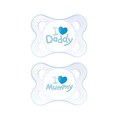 MAM Style 0+M Soother, Blue 2 per pack - Pack of 6
