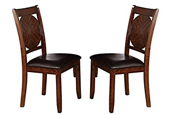 Milton Greens Stars 8778DB Vernon Dining Chair, Dark Brown, Set of 2