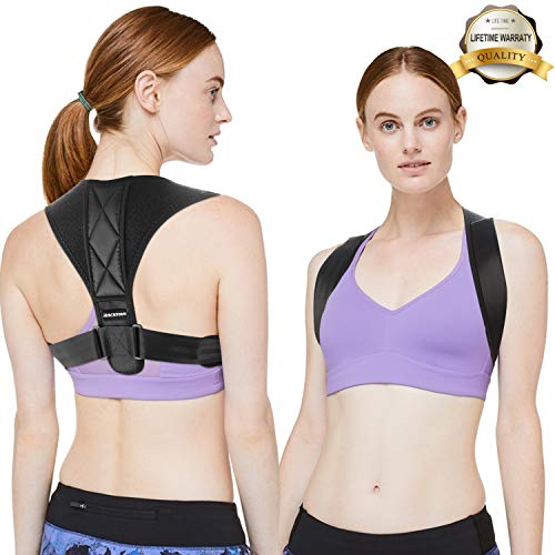 Aero Step - Backtour Posture Corrector for Women & Men,Effective Upper Back Support Brace for Pain Relief,Clavicle Support Brace for Slouching,Hunching & Bad Posture(Chest 27