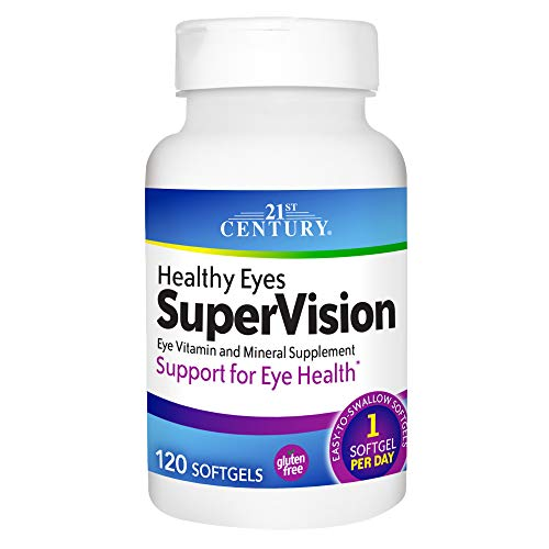 21st Century Healthy Eyes Supervision Softgels, 120 Count (Century Healthy 21st)