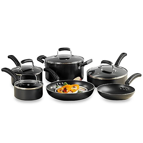 Everyday Nonstick 10-Piece Cookware Set, High Quality Aluminum by Invitations