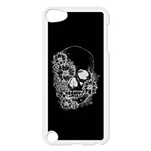 iPod Touch 5 Case White flores y calavera EUA16001283 Mobile Phone Cases And Covers