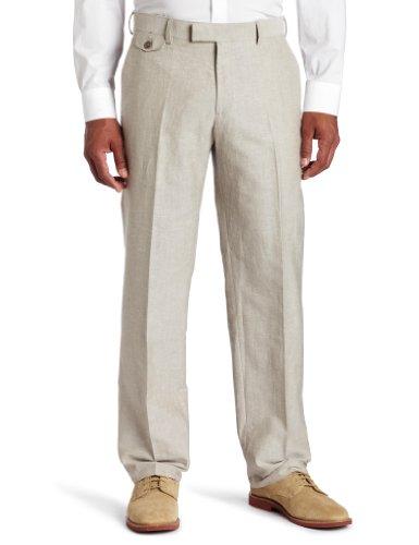 Kenneth Cole Reaction Khaki (Kenneth Cole Reaction Men's Solid Rigid Waistband Flat Front Pant, Khaki, 30x32)