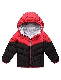 Aivtalk Boys Girls Winter Down Jacket Hooded Puffer Lightweight Coat Outerwear