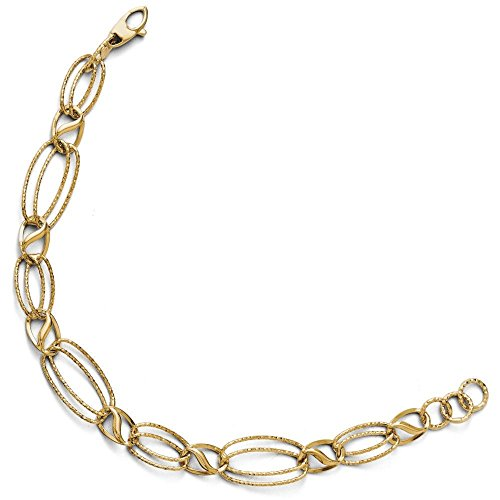 Poli et Lien en or 14ct-Bracelet Femme-18cm