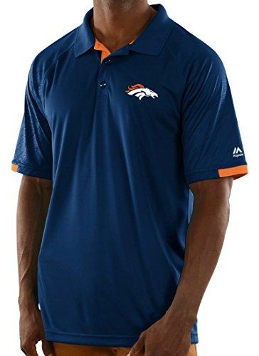Denver Broncos Majestic Mens Club Seat Polo(Medium) (Denver Broncos Polo)
