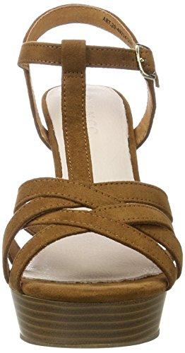 Bianco Strappy Sandal Jfm17 - Sandalias Mujer Marrón (Light Brown)