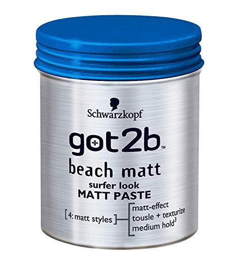 Schwarzkopf Got2b Beach Matt Surfer Look Matt Paste (100ml)