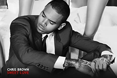 24x36 Poster Print Chris Brown in Suit