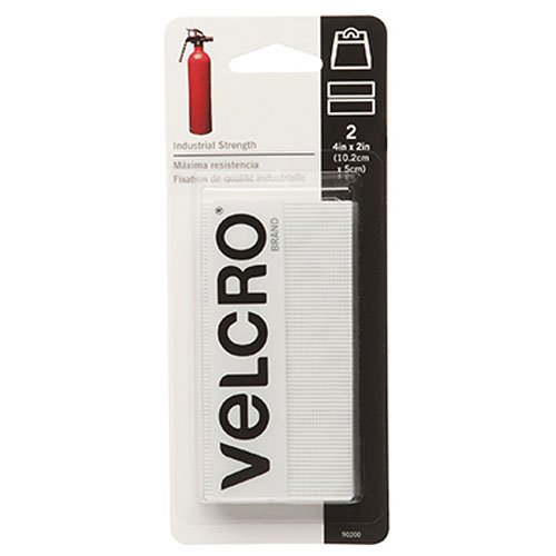 "VELCRO brand Industrial Strength Tape 4""X2"" 2/Pkg-White"