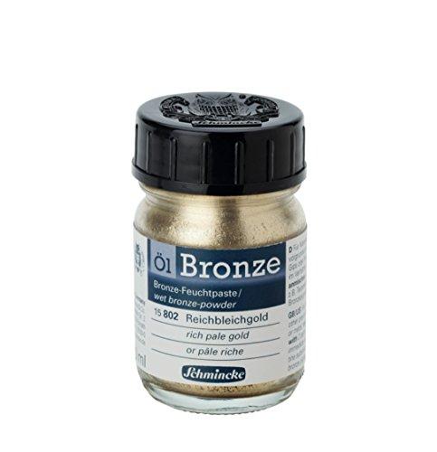 Schmincke Oil Bronze Powder, 50ml Jar, Rich Pale Gold, 1 Each (15802024) ()