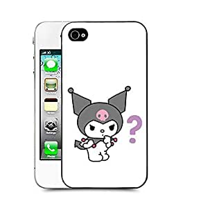 Case88 Designs My Melody & Kuromi Collection 0650 Protective Snap-on Hard Back Case Cover for Apple Iphone 4 4s