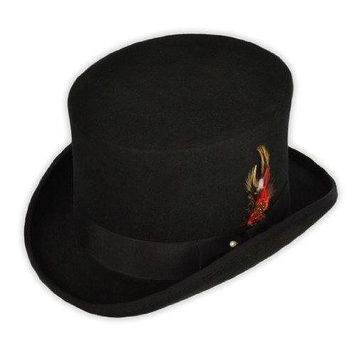 Feutre de laine Noir-Chapeau-'Countrywear'Cotswold chapeaux Par Pays