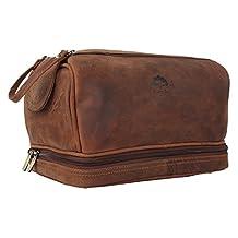 Leather Toiletry Bag Men Women Travel Shaving Bag Travel Bag Organizer Dopp Kit