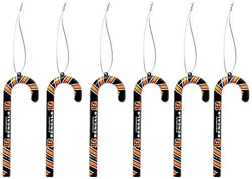 (Cincinnati Bengals Candy Cane Ornament Set)