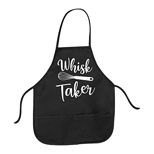 Cookout Apron Whisk Taker Funny Baking Kitchen Smock (Black) - Black; One size (Hot N Fresh Out The Kitchen Apron)