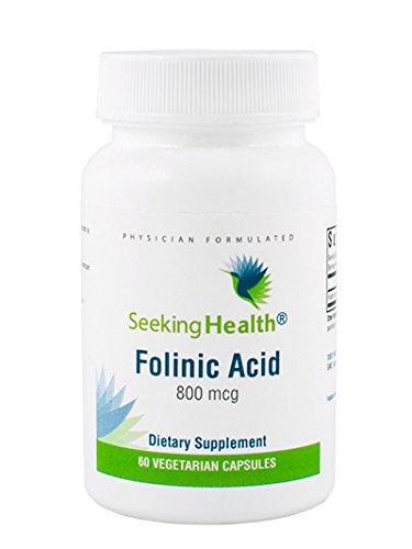 Seeking Health | Folinic Acid | Provides 800 mcg DFE Bio-available Folinic Acid | Non-Methyl Form of Folate | 60 Vegetarian Capsules