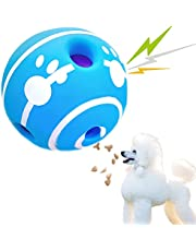 Extremely Durable Giggle Ball for Dogs, Treat Dispenser, Interactive Dog Toys Puzzle Mentally Stimulating, Wiggle Giggle Dog Ball IQ Train for Puppies, Small, Medium Breeds Dog Favorite Gift Blue