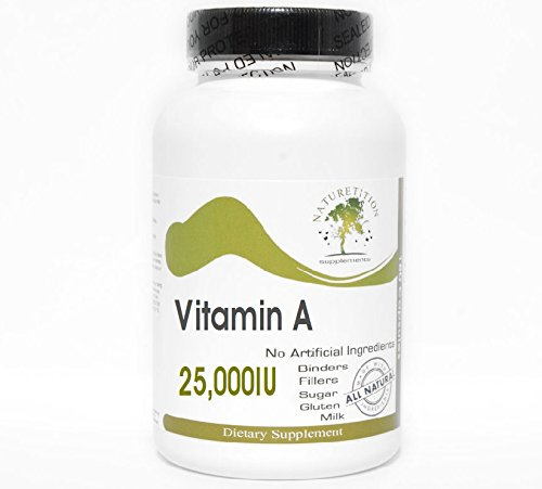 Vitamin A 25,000IU Emulsified Dry ~ 100 Capsules - No Additives ~ Naturetition Supplements