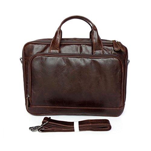 Genuine Leather Laptop Business Briefcase Messenger Shouler Bag