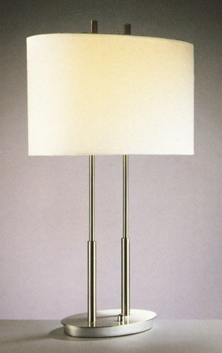 2 Table Lamp Kovacs George - George Kovacs P184-084, Portables Tall Table Lamp, 2 Light, Brushed Nickel