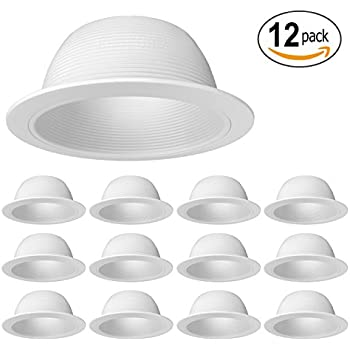 6 inch recessed can light trim white metal step baffle for 6 inch 12 pack procuru 6 white baffle metal recessed can light trim aloadofball Gallery