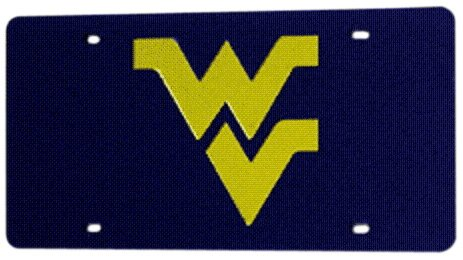 NCAA West Virginia Mountaineers Laser-Cut Auto Tag