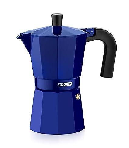 Monix M281703 M281703-Cafetera Italiana, 3 Tazas, Color Fresa, Aluminio, 9 cm